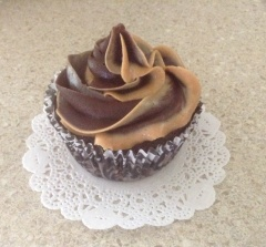 Vegan Chocolate Cupcake with Chocolate Fudge & Peanut Butter Frosting