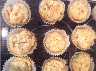 Fresh Herb & Bacon Cupcake with or without Whipped Cream Cheese & Chive Frosting
